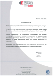 Warsztaty TRE - Referencje Orlen
